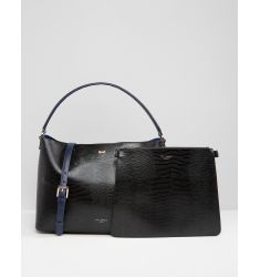 Ted Baker Leather Top Handle Tote Bag