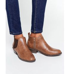Head Over Heels By Dune Piro Tan Chelsea Boots