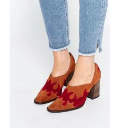 Free People Alamo Brown Suede Western Heeled Shoes