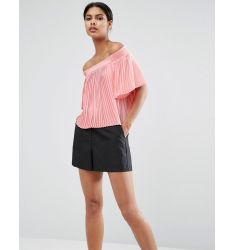 ASOS Pleated Off Shoulder Top
