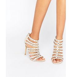 Steve Madden Shining Embellished Caged Heeled Sandals