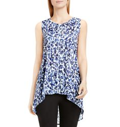 Two by VINCE CAMTUO Abstract Animal Print Burnout Tank