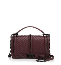 Rebecca Minkoff Love Chevron Quilted Chain Top Handle Crossbody