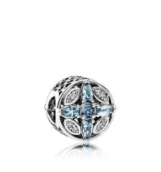 PANDORA Charm - Sterling Silver & Cubic Zirconia Patterns, Moments Collection