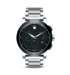 Movado Museum Sport™ Chronograph Stainlees Steel Watch, 44mm