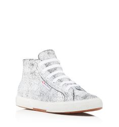 Superga Crackle Lace Up High Top Sneakers
