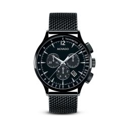 Movado Circa™ Chronograph Black PVD and Stainless Steel Watch, 42mm