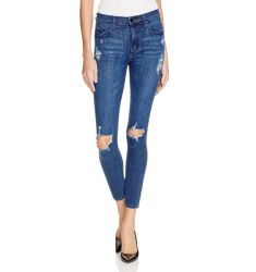 Nobody Cult Destructed Skinny Ankle Jeans in Freedom