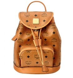 MCM Heritage Mini Canvas & Leather Backpack