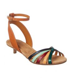 Isabel Marant Pulse Leather Kitten Heel Sandal