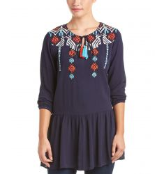 THML Clothing Embroidered Peasant Top