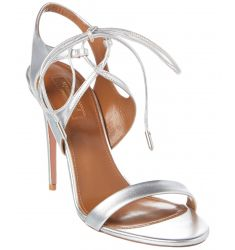 Aquazzura Colette 105 Metallic Leather Sandal