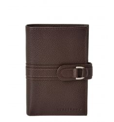 Longchamp Le Foulonne Leather Compact Wallet