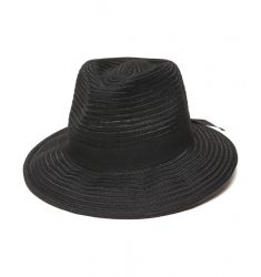 Physician's Endorsed Women's Black Straw Fedora