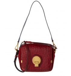 Chloe Indy Small Crocodile Embossed Leather Camera Bag