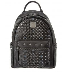 MCM Diamond Visetos Mini Canvas & Leather Backpack