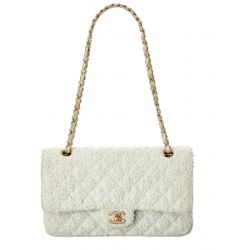 Chanel Mint Green Quilted Tweed 2.55 Double Flap Bag