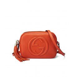Soho Leather Disco Bag Sun Orange