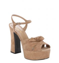 chamois suede 'Candy 80' bow detail ankle strap platform sandals