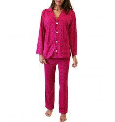 Bouquet Printed Button Down Pajama Set