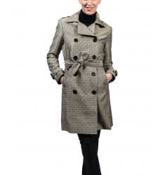 Custom Print Classic Trench with Belt