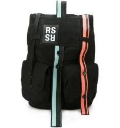 colour block strap backpack
