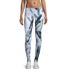 Airbrush Sport Leggings, Modernist Black/White