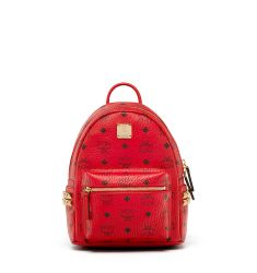 Stark Side-Stud Mini Backpack, Ruby Red