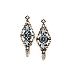 Aquarius Crystal Drop Earrings