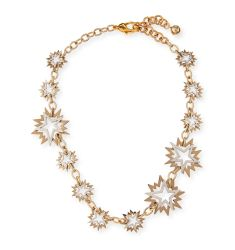 Cosmic Two-Tone Star Station Necklace