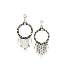 Mila Hoop Fringe Drop Earrings