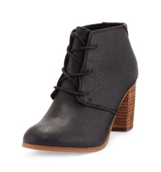 Lunata Faux-Leather Ankle Boot, Black