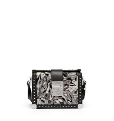 Mitte Mini Brocade Crossbody Bag, Black