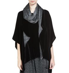 Washable Velvet Scarf, Black