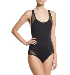 Sporty Soul Mesh Zip-Back One-Piece Swimsuit
