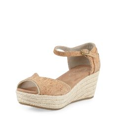 Cork Platform Wedge Sandal, Cork Glitz
