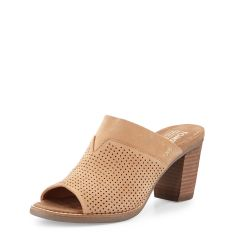 Majorca Perforated Mule Sandal, Sandstorm