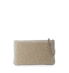 Loubiposh Spiked Clutch Bag, Silver/Multi