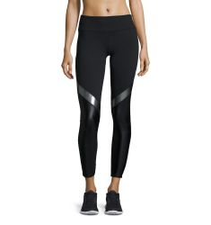Maddox High-Waist Block Athletic Leggings, Black