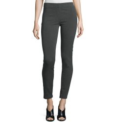 Herringbone Stretch Leggings, Dark Gray
