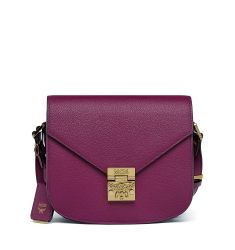 Patricia Small Leather Crossbody Bag, Purple