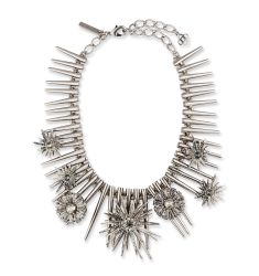 Celestial Star Statement Necklace, Gray