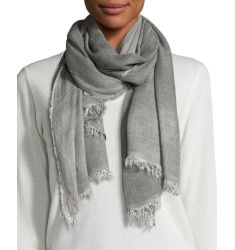 Cozy Maltinto Textured Scarf, Ash