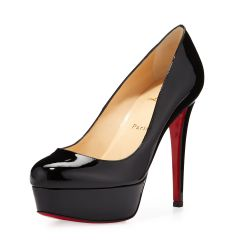 Bianca Patent Red Sole Pump, Black