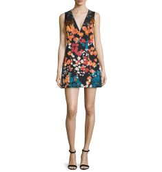 Pacey Floral-Print Sleeveless Minidress