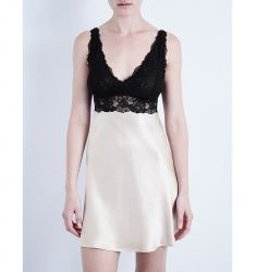 Morgan silk-satin and lace chemise  Morgan silk-satin and lace chemise Morgan silk-satin and lace ch