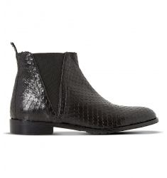 Palla reptile-print chelsea boots  Patrol crocodile-embossed leather chelsea