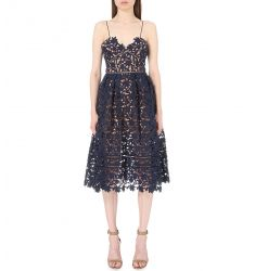 Azaelea lace dress  Printed crepe dress Tassel-tied embroidered dress Viceroy sheer dress Action las