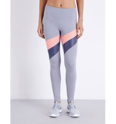Mirror striped leggings  Marl-panel stretch-jersey leggings Spot-detail stretch-jersey leggings Cont