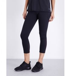 Mirror cropped leggings  Marl-panel stretch-jersey leggings Spot-detail stretch-jersey leggings Cont
